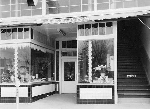 A classic black-and-white photo of our beloved storefront